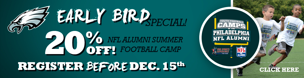 Special Holiday Offer - 20% Off 2017 NFL Camp Registrations Before DEC. 15th!
