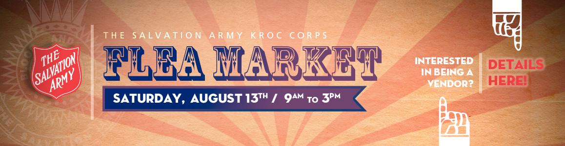 Be a Vendor! Flea mArket, August 13th!