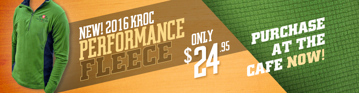NEW Kroc Performance Fleece - 24.95 at the Cafe!