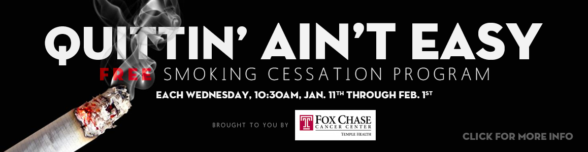 FREE Smoking Cessation Program Begins January 11th - Visit the Fitness Center for Sign Up Info!
