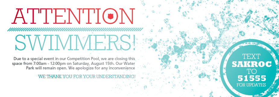 Water Park Closed - Competition Pool Open