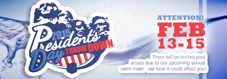 Swim Meet Febraury 13th - Pool access will be Limited!